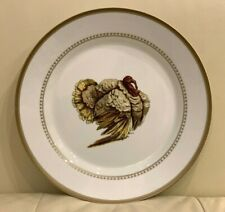 Williams Sonoma Estate Turkey 2012 Gold Trim Heavy Dinner Plate