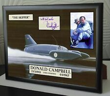 DONALD CAMPBELL WORLD SPEED RECORD TRIBUTE SIGNED