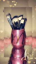Makeup brush holder cup. Personalized. Glitter. Vanity room decor