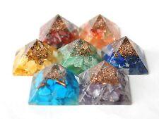 Energia reiki addebitate COMPLETA Orgone PIRAMIDE cristallo chakra set di 7 HEALING