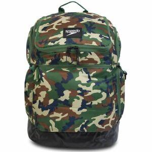Speedo Teamster 2.0 Rucksack 35L, Teamster Backpack Green/Black Camo  / Swim Bag