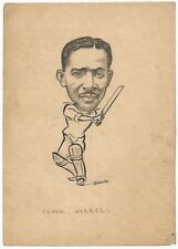 Cricket West Indies Frank Worrel c.1940s-50s sketch by cartoonist R Booch India