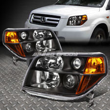 FOR 2006-2008 HONDA PILOT BLACK HOUSING AMBER CORNER PROJECTOR HEADLIGHT/LAMP