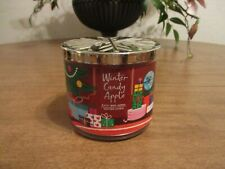 BATH & BODY WORKS WINTER CANDLE APPLE 3 WICK 14.5 OZ CANDLE