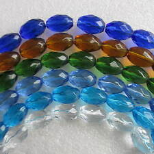 3 Strand Crystal Barrel Glass Beads Faceted 72pcs 20mm x 10mm Crafts & Jewellery