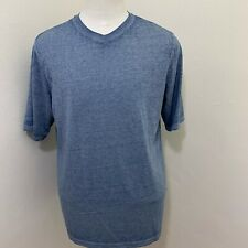 CARBON2COBALT MEN'S BLUE COTTON BLEND V-NECK T-SHIRT SIZE M Z09-31