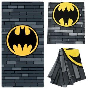 Batman Boys Girls Fast Dry Comfy Character Bath Towel - Official Merchandise