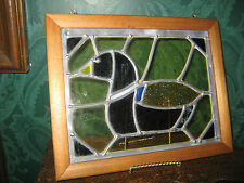 Mallard Duck Leaded Stained Glass in Hardwood Frame 8x10 NOW ON SALE