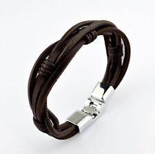 Party Gift aléatoire 100Pcs Charme Cuir Bracelet Hommes Femmes Bracelet Bangle MX13