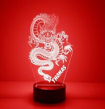 Dragon Personalized Night Light Lamp 16 Colors LED Desk Table Lamp Bedroom Decor