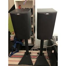 B&W 601 speakers with stands