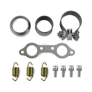 Exhuast Muffler Kit Clamp Spring Gasket For Polaris RZR S 800 EFI INTL 2013-2014