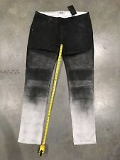 New Golden Denim Black Jeans With Bleach Fade And Ribs Sz.38 NWT 100% Authentic