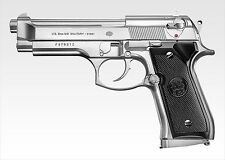 M92F Military Stainless Model Air Hop Hand Gun Tokyo Marui Japan for 10 over F/S