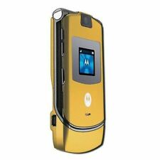 Motorola RAZR V3 Unlocked flip Mobile Phone New Boxed Polished Gold