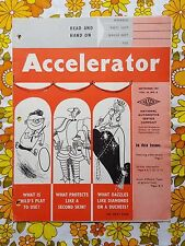 ACCELERATOR Sept 1957 Vol. 14 No. 8 GMH NASCO Parts Holden magazine
