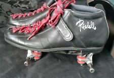 Riedell 126 leather boots, black (size 10) with sunlite plates (7)