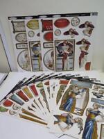 16 Designs Debbi Moore Art Deco Christmas Decoupage Die Cuts Cardmaking AM917