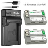 Kastar Battery Charger for Nikon EN-EL3e (25334) D100 D200 D300 D50 D70 D80 D90