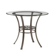 Southern Enterprises Lucianna Dining Table w/Glass Top DN1490 Dining Table NEW