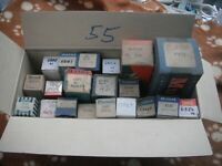 BOX OF BOXED NEW VALVES TUBES VINTAGE RADIO ETC CHEAP TO CLEAR BX55