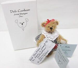 """Susie"" MINIATURE Deb Canham Collectable Bear Handmade Gold Mohair Ltd. Edition"