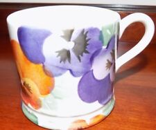EMMA BRIDGEWATER PURPLE PANSY BABY/ SMALL  MUG  1/4 PT  NEW