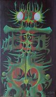 Yak Rivais huile toile signée tendance populaire surréaliste Figuration Critique