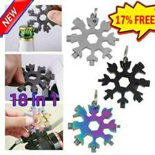 18in1 Snowflake Tool Card Multifunctional Screwdriver Wrench Stainless Steel AU