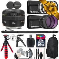Canon 50mm f/1.4 USM + MACRO, UV-CPL-FLD Filter + Monopad- 16GB Holiday Gift Kit