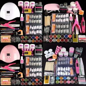 Pro Acrylic Nail Kit With 36w Lamp Dryer Full Manicure Set For Nail Art Acrylic