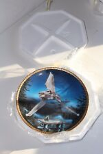 Vintage IMPERIAL SHUTTLE Star Wars Vehicles Ceramic Collector Plate Opened Box