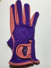 Ovation Child's Pony Rider Gloves A 8-10 Pink Purple