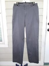 DOCKERS D2 Mens Chinos STRAIGHT FIT Flat Front Iron Free Pants Grey Size 30 x 30