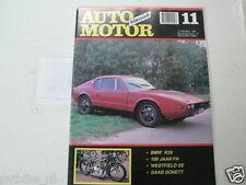 AMK 1989-11 BMW R39,SAAB SONNET,100 YEAR FN,WESTFIELD SE,MASERATI OSCA,MG 1200,