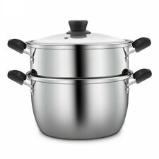 Stainless Steel Casserole Kitchen Cookware Double Boilers Steamers Eco-friendly