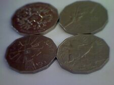 4 x 50c Coins - Circulated  & Very Collectable