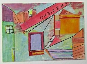 """""""At Sea"""" Original Collage Surrealism Abstract Art ACEO 2.5"""" x 3.5"""""""