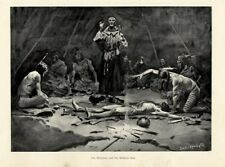 FREDERIC REMINGTON THE MISSIONARY AND THE MEDICINE MAN INDIANS TEEPEE CEREMONY