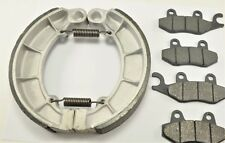 KAWASAKI Bayou 400 KLF400 4x4 (1993-99) BONDED FRONT PADS & REAR BRAKE SHOES
