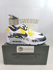 Authentic Nike Air Max 90 Premium DB AH6830-100 White/Black Men Size 7.5 Wmns 9