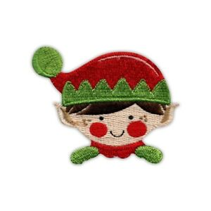 Christmas Elf Embroidered PATCH/BADGE