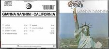 RARE CD 7T GIANNA NANNINI CALIFORNIA DE 1985 WEST GERMANY   Ricordi ‎– 825 355-2
