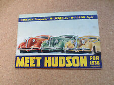 Original 1938 Hudson Six & Eight & Terraplane cars advertising booklet