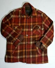 Vintage Mens Vip Flannel Jacket/Shirt Plaid Very Thick & Heavy Duty Size Medium