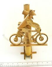 Handmade Bamboo Bicycle Garden Water Fountain FREE WATER PUMP