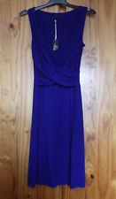 figleaves Hyacynth Sleevless Wrap Dress Indigo Blue 16