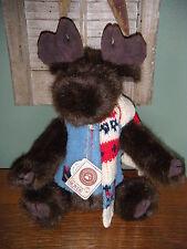 "Boyds Bears PLUSH 2002  ~12"" GUSTAF MOOSELTOFF~  DRESSED FOR WINTER BEAR"