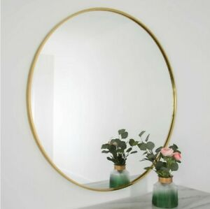 Luxury Extra Large Gold Circular Round Wall Mirror 3ft3 x 3ft3 100cm X 100cm