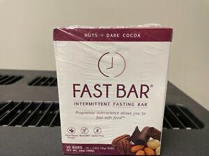 Fast Bar Nuts + Dark Cocoa- Intermittent Fasting Bar by L-Nutra- 10 Bars 1 Box